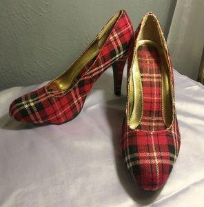 Charlotte Russe Plaid Heels